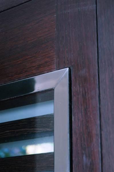 Porte d 39 entr e sur mesure weng persienn e et vitr e - Porte d entree sur mesure lapeyre ...